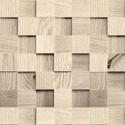 OUTLET - 1 Rolo de Papel de Parede Cubos de Madeira 0,60 x 2,35 metros