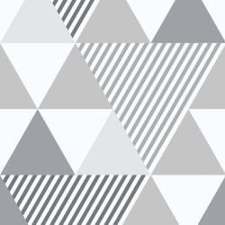 OUTLET - 1 Rolo de Papel de Parede Doris Gray 0,60 x 2,50 metros