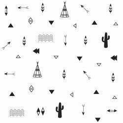 OUTLET - 1 Rolo de Papel de Parede Indio Ilustra 0,60 x 2,50 metros