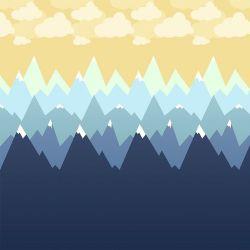 OUTLET - 1 Rolo de Papel de Parede Montanhas 0,60 x 2,50 metro