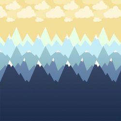 OUTLET - 1 Rolo de Papel de Parede Montanhas 0,60 x 2,50 metros