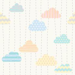 OUTLET - 1 Rolo de Papel de Parede Nuvens Print 0,60 x 2,50 metros