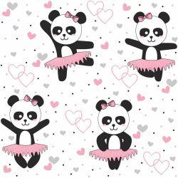 OUTLET - 1 Rolo de Papel de Parede Panda Ballet 0,60 x 3,00 metros