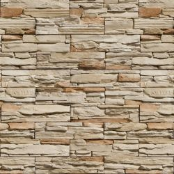 OUTLET - 1 Rolo de Papel de Parede Pedras Canjiquinha 05 0,60 x 2,00 metros