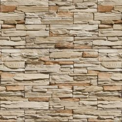OUTLET - 1 Rolo de Papel de Parede Pedras Canjiquinha 05 0,60 x 3,00 metros