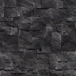 OUTLET - 1 Rolo de Papel de Parede Pedras Escuras 0,58 x 2,50 metros