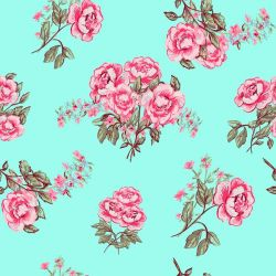 OUTLET - 1 Rolo de Papel de Parede Rose Vintage 0,58x 3,00 metros