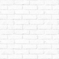 OUTLET - 1 Rolo de Papel de Parede Tijolos Brancos 0,60 x 1,15 metros
