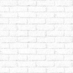 OUTLET - 1 Rolo de Papel de Parede Tijolos Brancos 0,60 x 2,50 metros