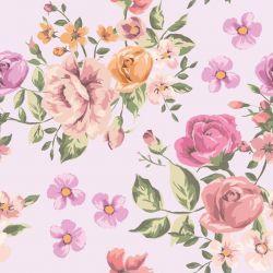OUTLET - 1 Rolo de Papel de Parede Vintage Roses 0,60 x 2,50 metros