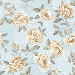 OUTLET - 1 Rolo de Papel de Parede Vintage White Roses 0,58 x 2,50 metros
