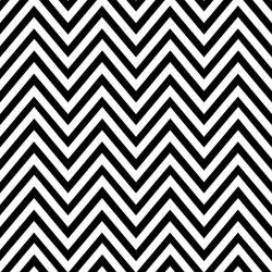 OUTLET - 1 Rolo de Papel de Parede Zig Zag Preto e Branco 0,58 x 2,50 metros