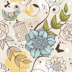 OUTLET - 1 Rolo Papel de Parede Floral Aldan 0,58 x 2,50 metros