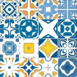 OUTLET - 2 Kits Adesivo para Azulejo Azul Royal 20x20 cm