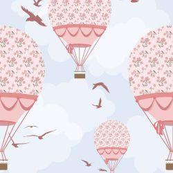 OUTLET - 2 Rolos de Papel de Parede Balões Ilustra 0,60 x 2,50 metros