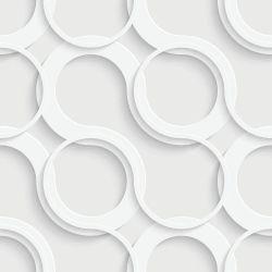 OUTLET - 2 Rolos de Papel de Parede Circles Clean 0,60 x 3,00 metros