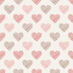 OUTLET - 2 Rolos de Papel de Parede Drawn Hearts 0,58 x 3,00 metros