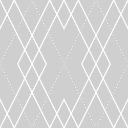 OUTLET - 2 Rolos de Papel de Parede Louie Gray 0,60 x 3,00 metros