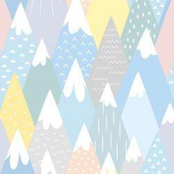 OUTLET - 2 Rolos de Papel de Parede Montanhas Candy 0,60 x 3,00 metros