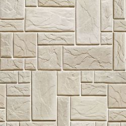 OUTLET - 2 Rolos de Papel de Parede Pedras Fundo Branco 5 0,60 x 2,50 metros