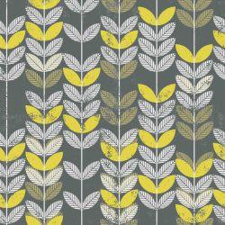 OUTLET - 2 Rolos de Papel de Parede Retro Green Leaves 0,60 x 3,00 metros