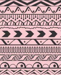 OUTLET - 2 Rolos de Papel de Parede Tribal Geometrico 0,60 x 2,50 metros