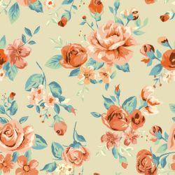 OUTLET - 2 Rolos de Papel de Parede Tropical Flowers 0,60 x 3,00 metros