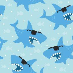 OUTLET - 2 Rolos de Papel de Parede Tubarão de Oculos 0,60 x 1,50 metros