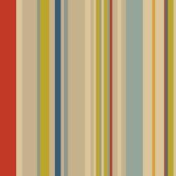 OUTLET - 3 Rolos de Papel de Parede Listras Coloridas 0,60 x 2,50 metros