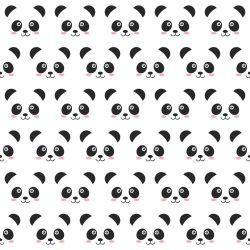 OUTLET - 3 Rolos de Papel de Parede Panda 0,60 x 3,00 metros