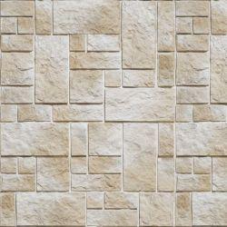 OUTLET - 3 Rolos de Papel de Parede Pedras Fundo Branco 3 -  0,60 x 3,00 metros