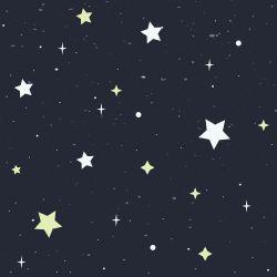 OUTLET - 5 Rolos de Papel de Parede Universo Estrelado 0,60 x 1,50 metros