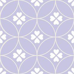 Papel de Parede Amor 4 Folhas Lilás