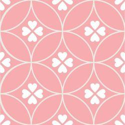Papel de Parede Amor 4 Folhas Pink