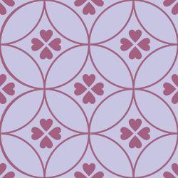 Papel de Parede Amor 4 Folhas Violeta