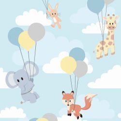 Papel de Parede Animais Balões