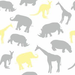 Papel de Parede Animais Minimalistas Clean