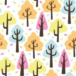 Papel de Parede Árvores Fofas