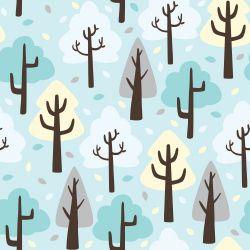 Papel de Parede Árvores Fofas Baby
