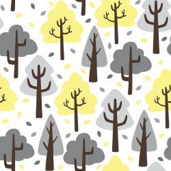 Papel de Parede Árvores Fofas Clean