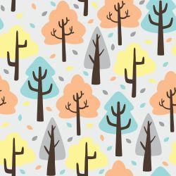 Papel de Parede Árvores Fofas Kids