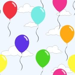 Papel de Parede Balões Coloridos
