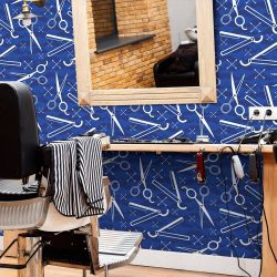 Papel de Parede Barber Shop Blue