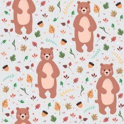 Papel de Parede Bear Cute Gray
