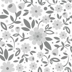 Papel de Parede Big Flowers Gray