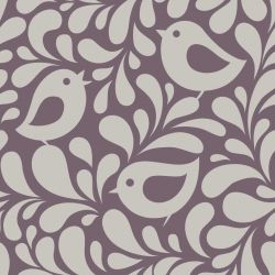 Papel de Parede Birds and Leaves