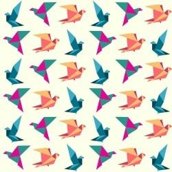 Papel de Parede Birds Origami