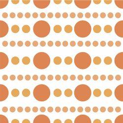Papel de Parede Bolinhas Orange