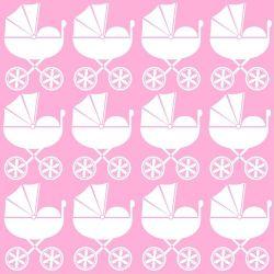 Papel de Parede Carrinho de Bebê Pink
