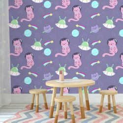 Papel de Parede Cat Space